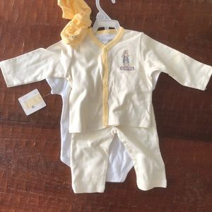 Other - NWT peter rabbit outfit with onesie and booties
